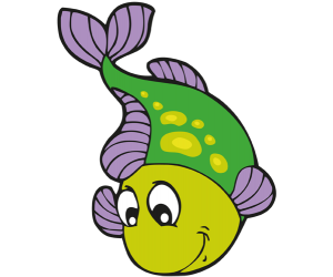 A green fish with yellow spots Game