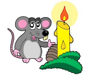 A little mouse with a Christmas candle Game