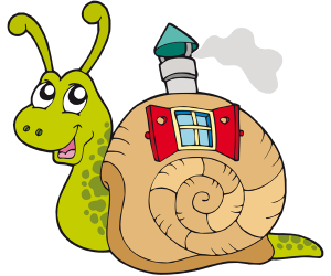 A magic snail with its pretty little house Game