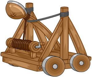 A medieval catapult to knock down the walls Game