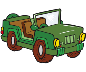 A military jeep, a military all-terrain Game