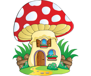 A mushroom converted in a small house Game