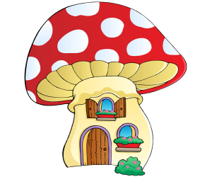 A mushroom house, a fantastic little house Game