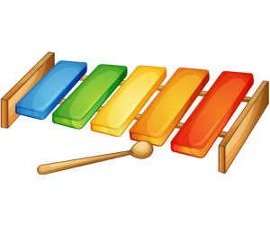 A musical wood toy, a xylophone Game