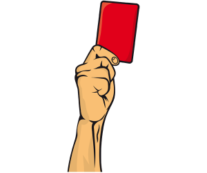 A red card is the expulsion of footballer Game
