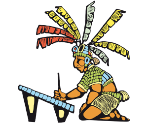 A scrivener of the Mayan Empire Game