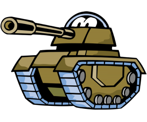 A tank, an armoured fighting vehicle Game