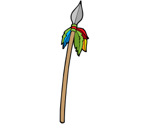 A traditional african weapon, a spear Game