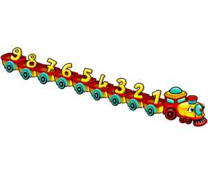 A train with the numbers from 1 to 9 Game
