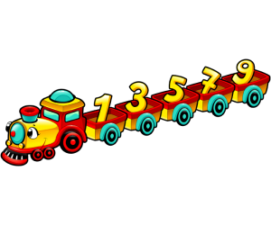 A train with the odd numbers Game