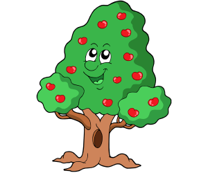 A tree full of ripe fruit in summer Game
