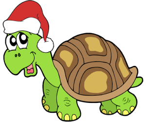 A turtle at Christmas celebrations Game
