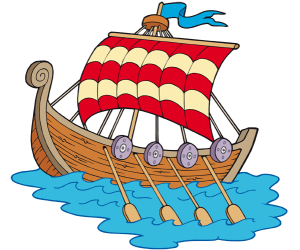 A vikings ship, known as drakkar Game