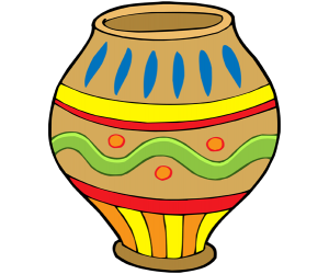 African crafts, a ceramic container Game