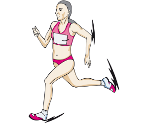 Athlete in a race of long or middle distance Game