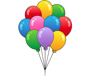 Balloons in a birthday party Game