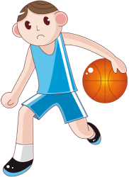 Basketball player in training with ball Game