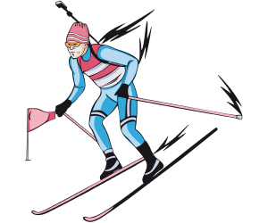 Biathlon, cross-country skiing and shooting sport Game