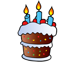 Birthday cake with three candles Game