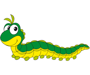 Caterpillar, larvae of insects such as butterflies Game