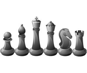 Chess's black pieces, six types Game