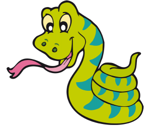 Coiled snake, carnivorous reptile Game