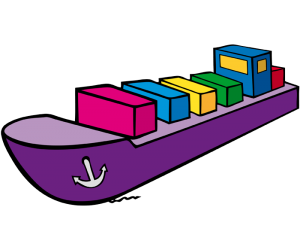 Containership, a ship carrying containers Game