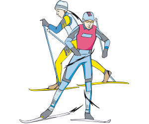 Cross-country skiing, XC skiing. Nordic skiing Game