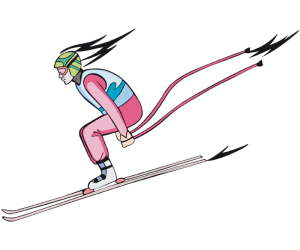 Downhill, the fastest discipline of alpine skiing Game