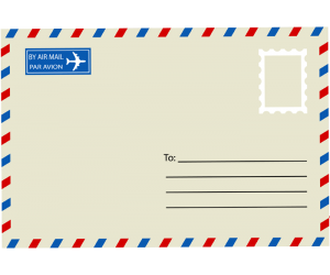Envelope for letter to send by air mail Game