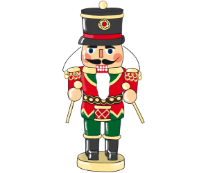 Figurative nutcracker, good luck symbol in Germany Game