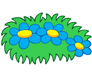 Flowers and plants in the garden Game