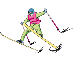 Freestyle skiing, acrobatic jump competition Game