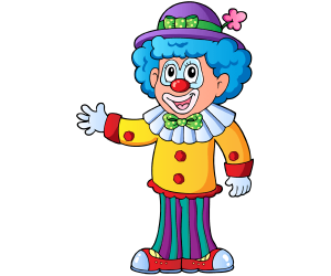 Funny clown for the birthday celebration Game