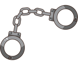 Handcuffs, security device for the criminal Game