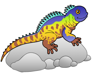Iguana, herbivorous lizard from tropical areas Game