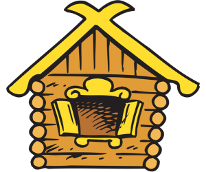Izba, traditional russian countryside log house Game