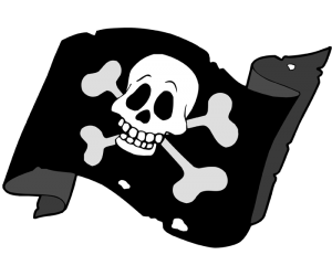 Jolly Roger flag, the pirates flag Game
