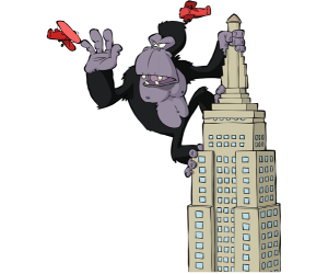 King Kong, a colossal and monstrous gorilla Game