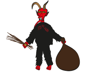 Krampus, beast of alpine folklore, Yule Game
