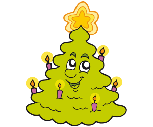 Luminous Christmas tree with candle lights Game