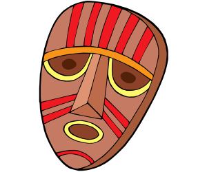 Mask for a ritual of the tribe Game