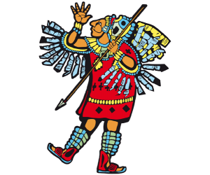 Mayan soldier, warrior from the Mayan Empire Game