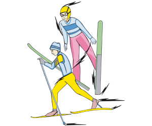 Nordic combined, XC skiing and ski jumping Game