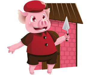 Pig and the brick house, a solid construction Game