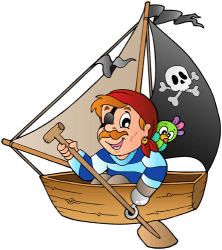 Pirate in a rowboat Game