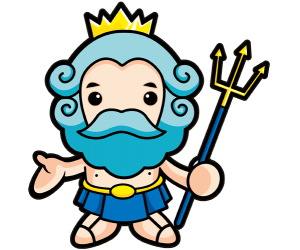 Poseidon or Neptune, the god of the sea Game