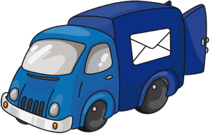 Post van, mail truck, delivery vehicle Game