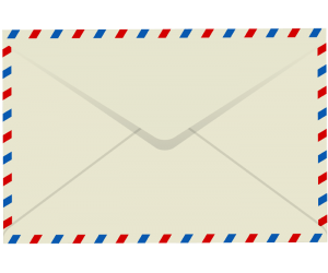 Reverse side of a letter's envelope Game