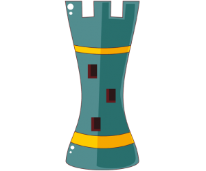 Rook, chess piece of great value Game